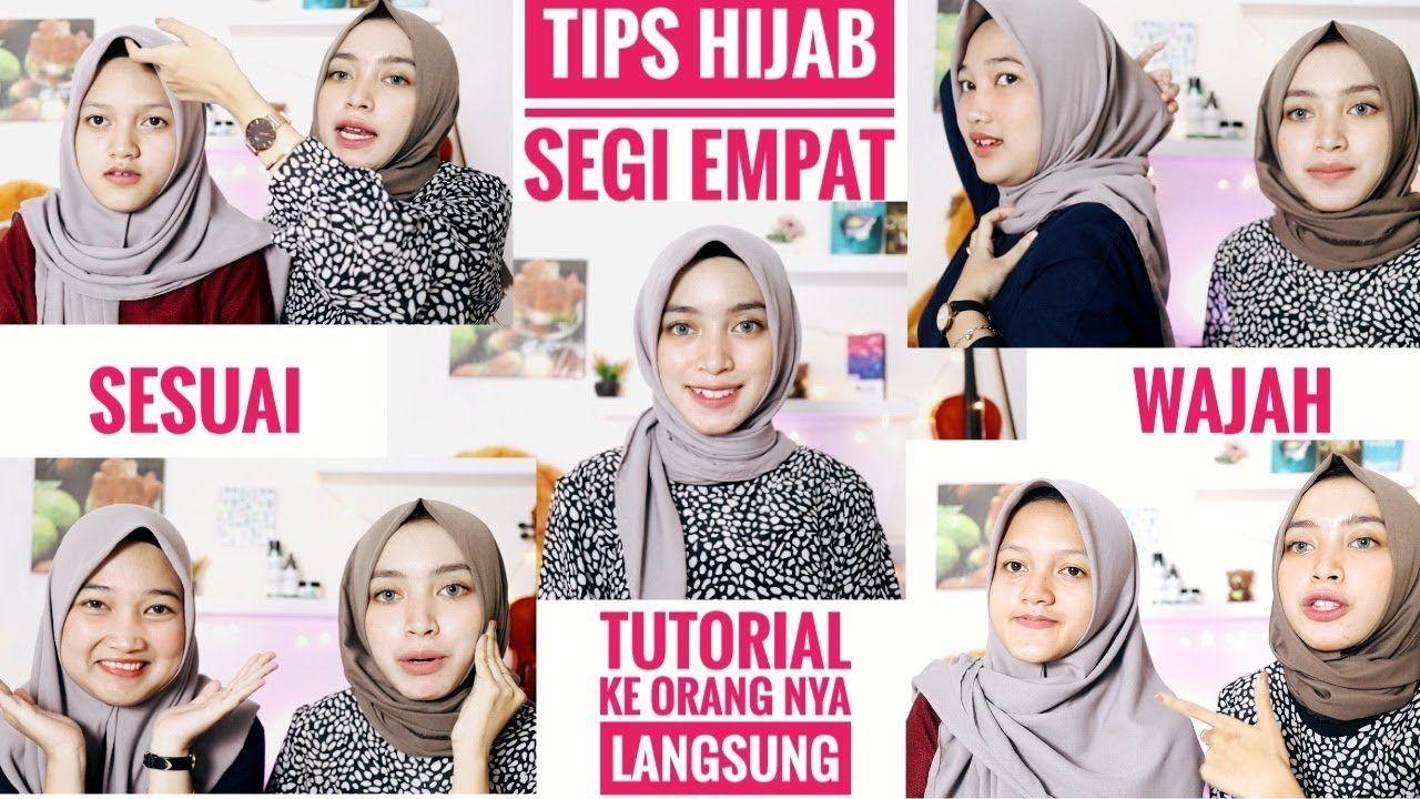 Tutorial Hijab Segi Empat Simple Untuk Muka Lonjong  Kursus hijab