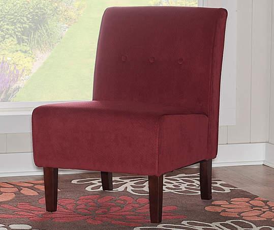 Red Armless Accent Chair Armless Accent Chair Accent Chairs Chair