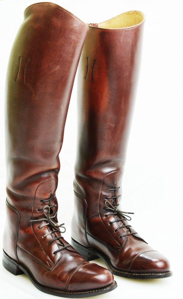 Dehner English Riding Field Boots Custom Equestrian Tan Brown ...