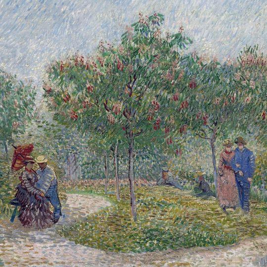 Vincent Van Gogh Jardín con los novios: Plaza de San Pedro ( detalle )