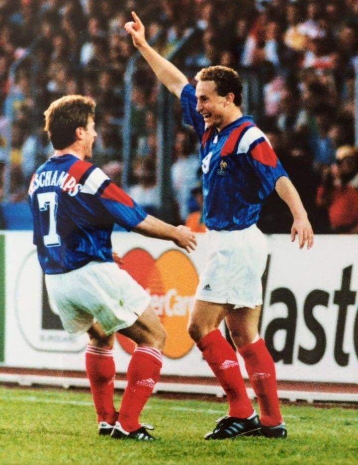 Didier Deschamps & Jean Pierre Papin Équipe de france