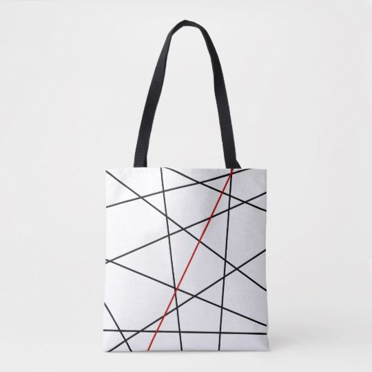 Black and red lines tote bag   Zazzle com - Unique tote bag, Tote bag, Tote bag pattern, Trending handbag, Vintage purses, Tote bag design - Black and red lines lines for this modern geometric design