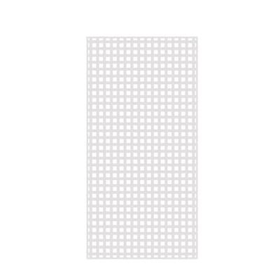 Veranda 4 Ft X 8 Ft White Privacy Square Vinyl Lattice Framed 73004051 The Home Depot In 2020 Vinyl Lattice Panels Lattice Plastic Lattice