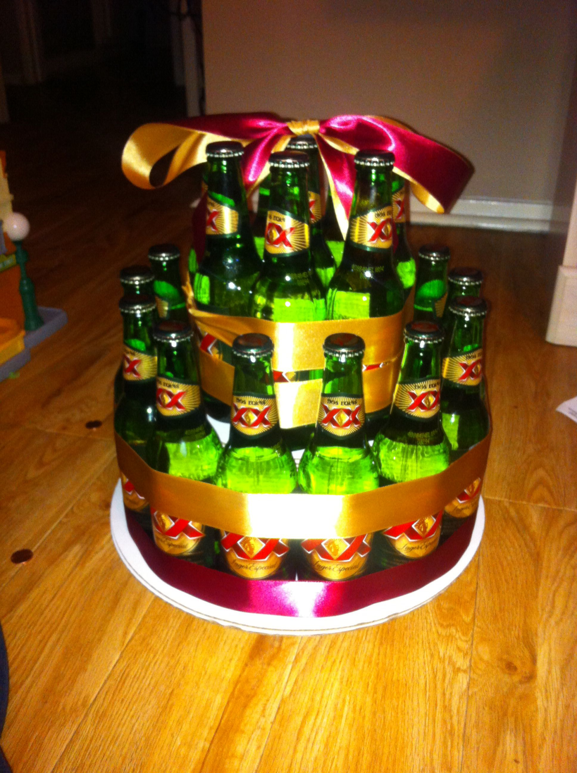 Beer Bottle Cake Kiya Z Creationz Beer Bottle Cake