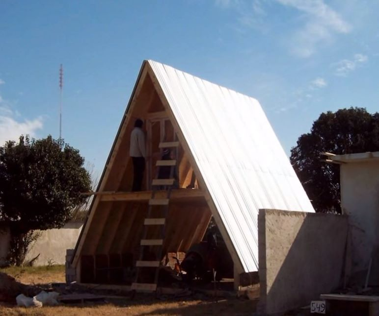 Chapas en casa alpina pinterest cabana wood - Como construir una cabana ...