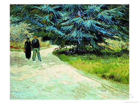 The Poets Garden, Arles 1888 Giclee Print By Vincent Van Gogh At Http:/