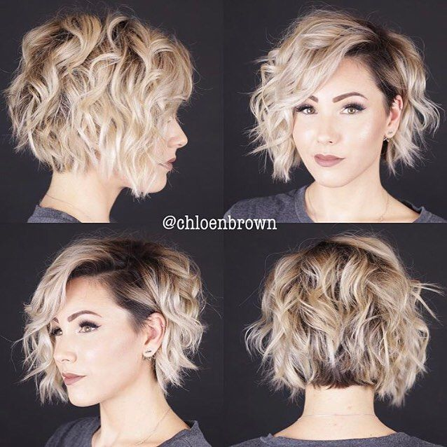Wavy Curly Undercut Bob Thanks Chloenbrown Buzzcutfeed Wavyhair Undercut Undercuts Haircut Shaved Thick Hair Styles Short Hair Styles Hair Styles