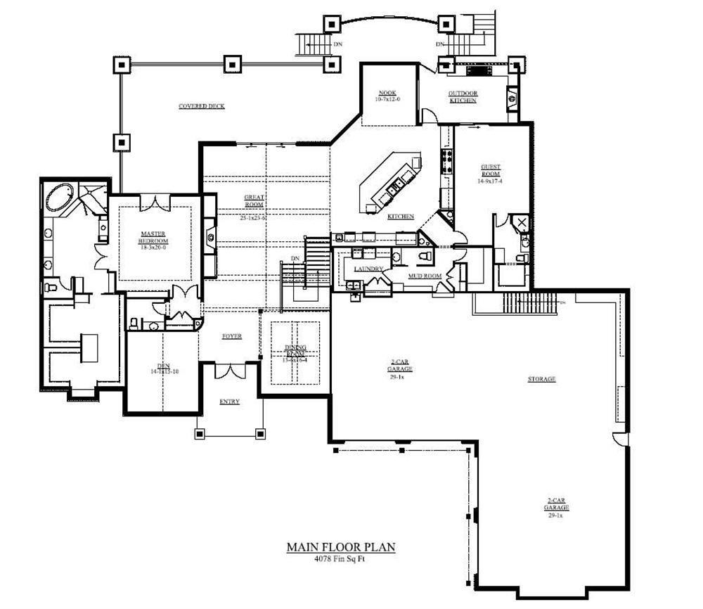 Floor Plan First Story Luxury plan, Luxury house plans