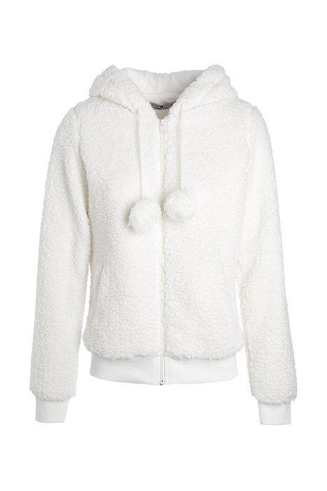 Faites-vous plaisir avec cette veste doudou très rigolote ! Sa capuche est  surmontée de e2e25a5bf92c