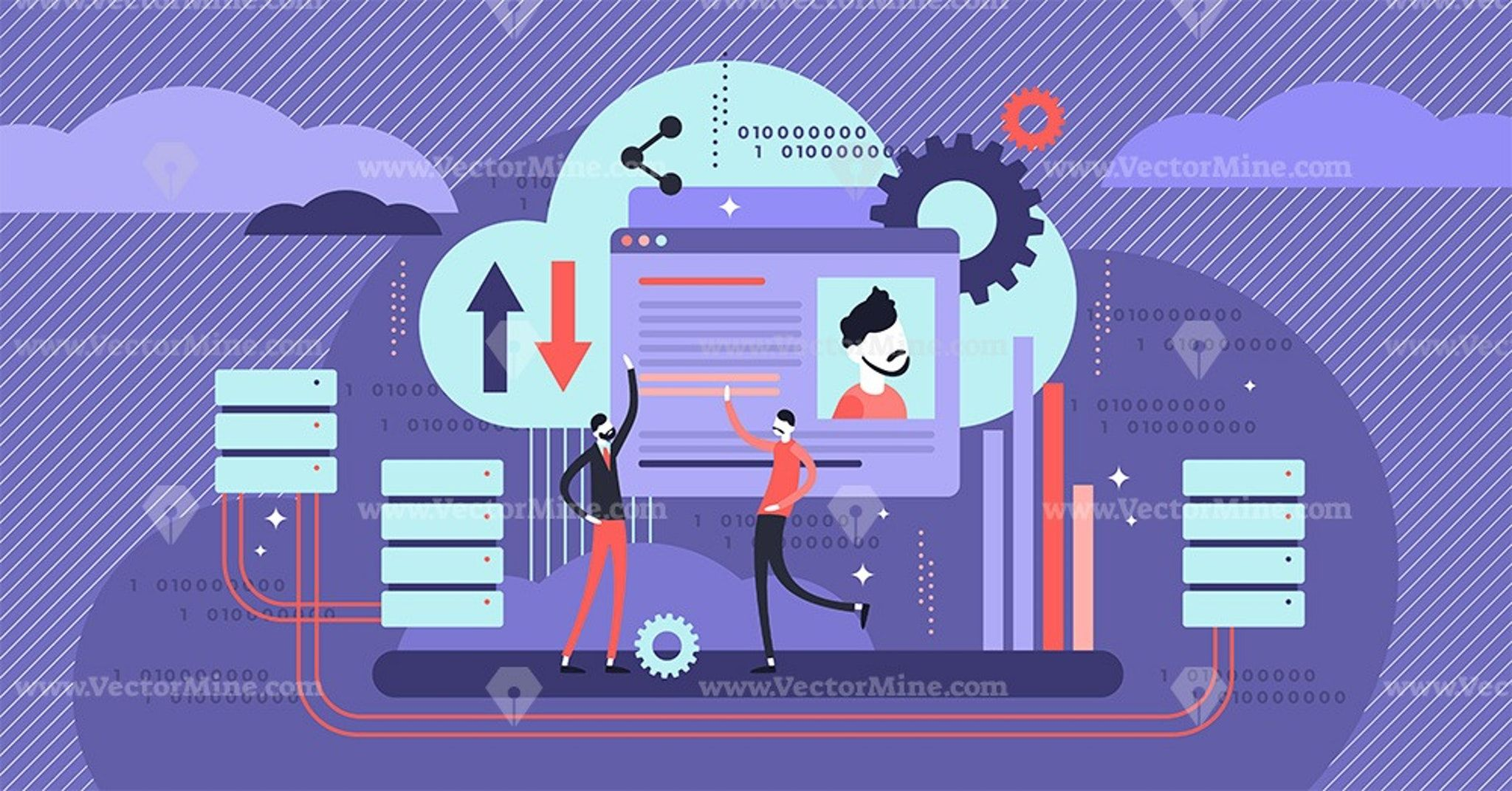 Database concept vector illustration (With images