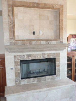 fireplace surrounds travertine fireplace ideas