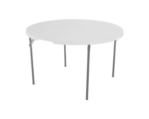 Plastic Folding Table Round 48 Inch Banquet Tables Fold In Half Commercial Poker Round Folding Table Half Round Table Fold In Half Table