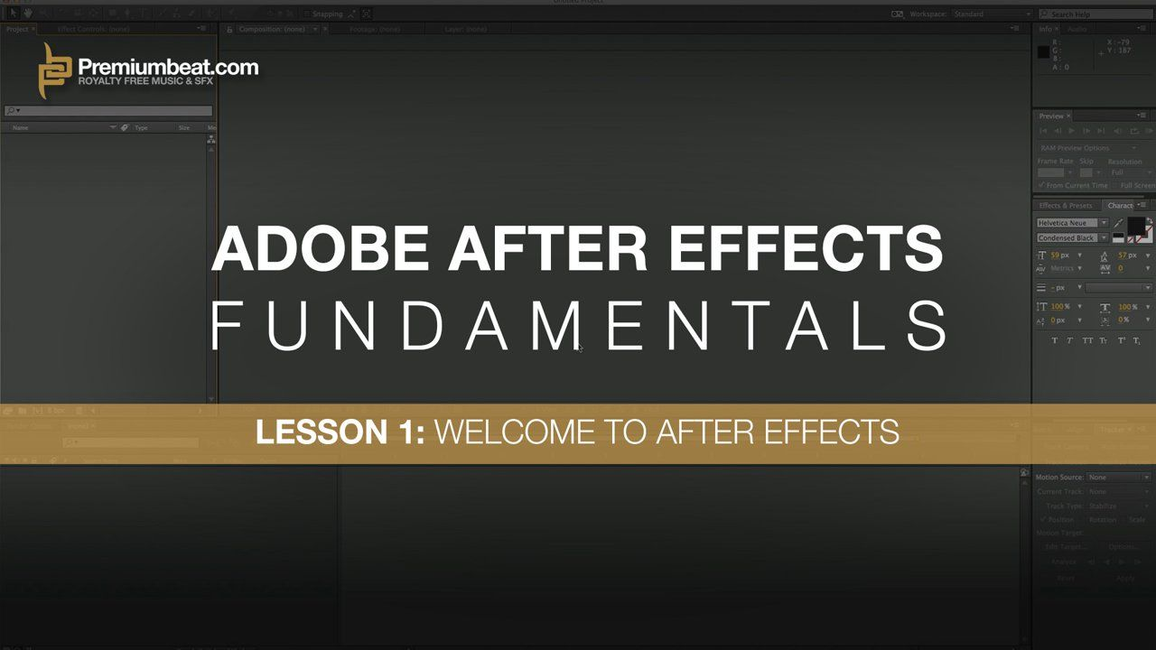 After Effects Fundamentals Lesson 1 Welcome To Ae After Effects