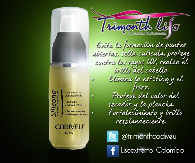La Silicona de Trimonthliso aporta brillo y suavidad al cabello. Su uso es ideal para después del cepillado y plancha.