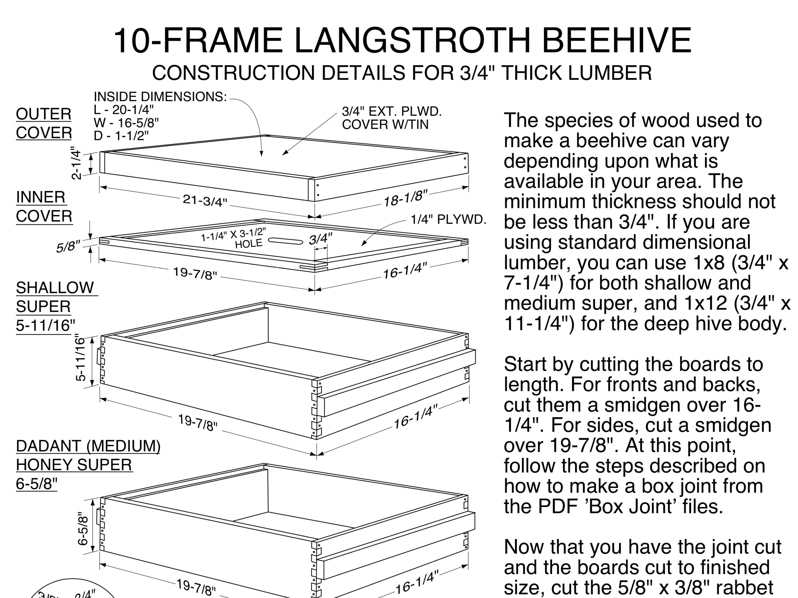 10 Frame Langstroth Hive Plans Pdf Langstroth Hive Plans 10 Frame Langstroth Hive