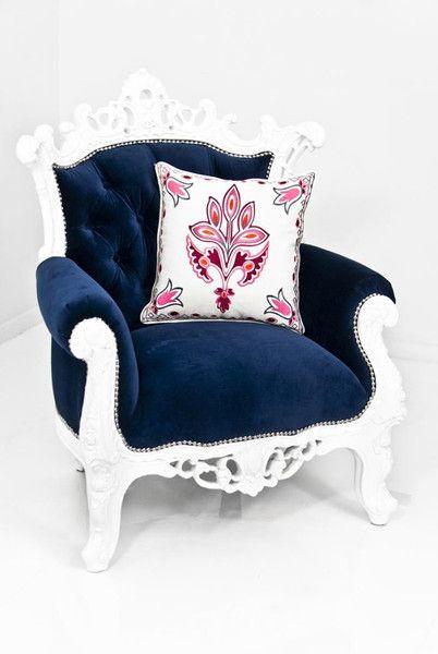 Madison Chair In Navy Velvet Blue Velvet Chairs Blue Armchair