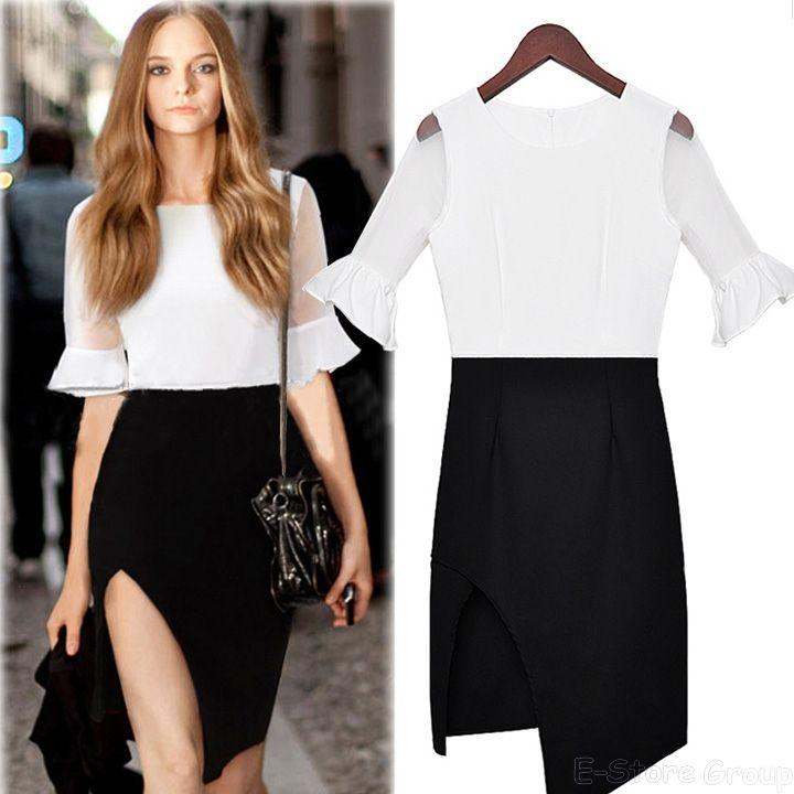 f452e1962b8f Trova più Dress Informazioni su 2015 stile europeo delle donne abiti estivi  eleganti signore ufficio manicotto