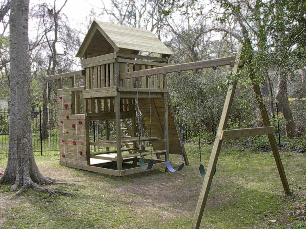 How to Build DIY Wood Fort and Swing Set Plans From Jack's Backyard. Learn  how to build your own backyard wooden Gemini playset with do-it-yourself  swing ... - 35+ Swing Set Plans Ideas Aaiden Swing Set Plans, Playset Diy