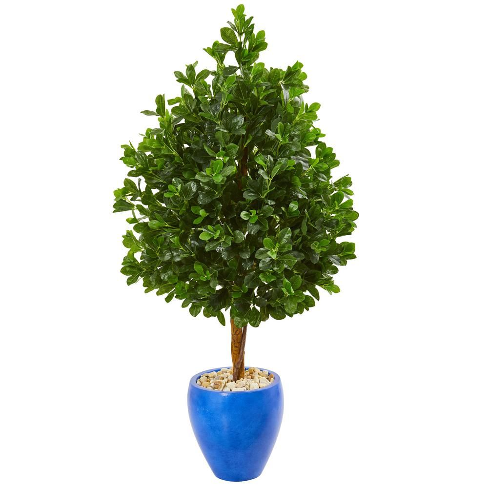 Indoor Evergreen Trees: Nearly Natural Indoor 57-In. Evergreen Artificial Tree In