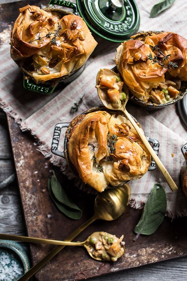 Autumn Chicken and Phyllo Dough Pot Pies | Recipe | Phyllo ...