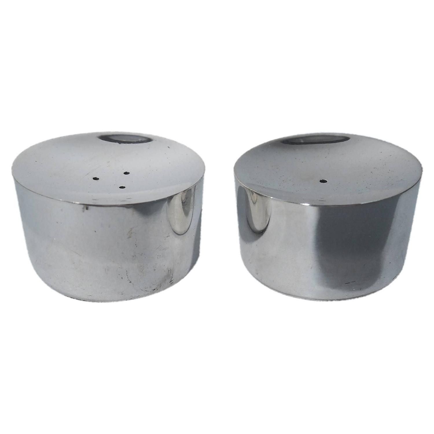 Midcentury Sterling Silver Salt and Pepper Shakers by Michelsen