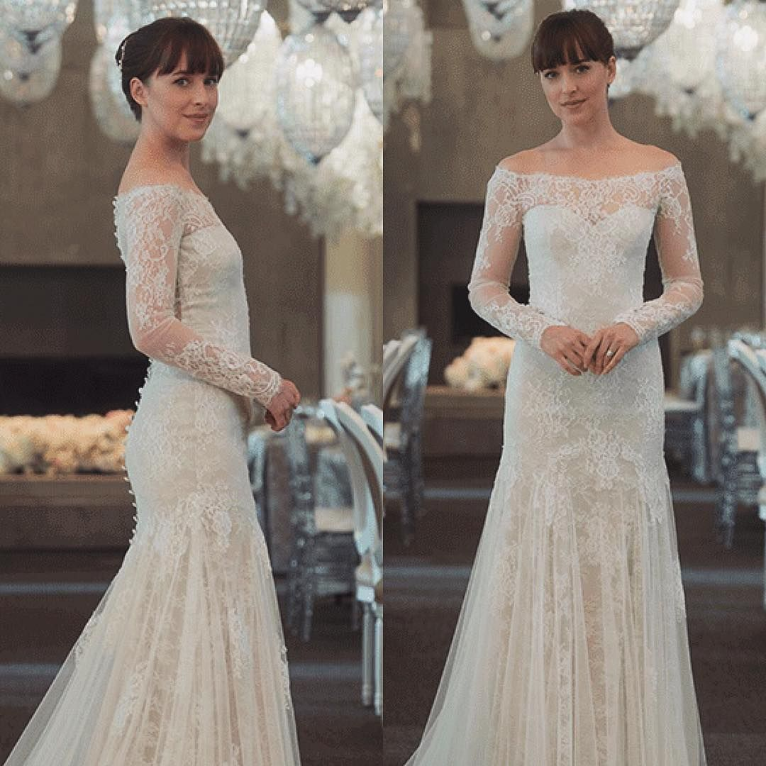 "Anastasia Grey. ""  Grey wedding dress, Blush bridesmaid dresses"