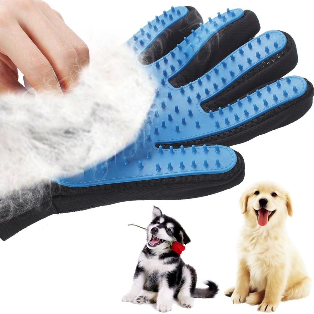Silicone Dog Pet Brush Glove Deshedding Gentle Efficient Pet