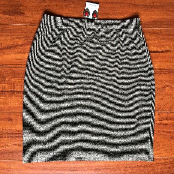 St. John Knit Skirt (Black Stripped) Perfect for professional or casual wear St. John Skirts Mini