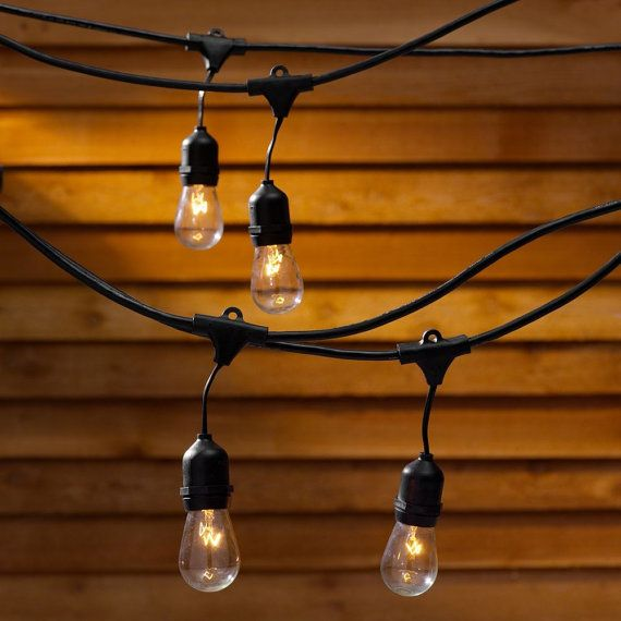 RESERVED FOR ALYSHA - 3 x Vintage outdoor string lights for wedding, party,  patio with 24 edison industrial bulbs - RESERVED FOR ALYSHA - 3 X Vintage Outdoor String Lights For