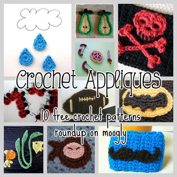 Crochet Appliques - 10 free patterns for unique and unusual ...