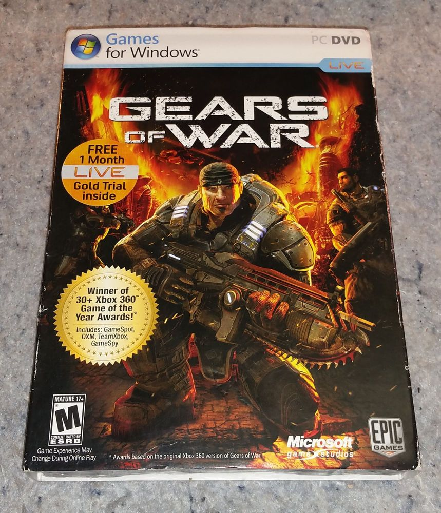Gears Of War Factory Sealed Original Windows Rare W Slip Case