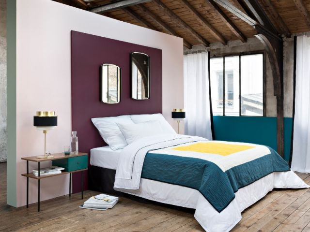 chambre 10 t tes de lit faire soi m me peinture bordeaux sarah lavoine et tete de. Black Bedroom Furniture Sets. Home Design Ideas