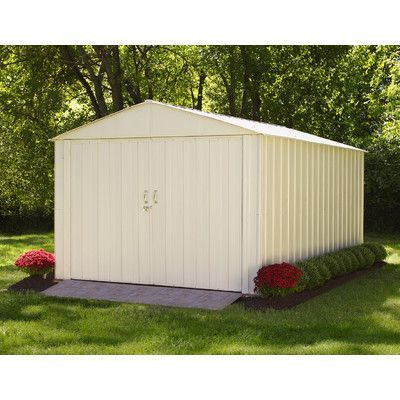 Arrow Mountaineer 10 Ft W X 15 Ft D Steel Storage Shed Steel Storage Sheds Metal Storage Sheds Metal Shed