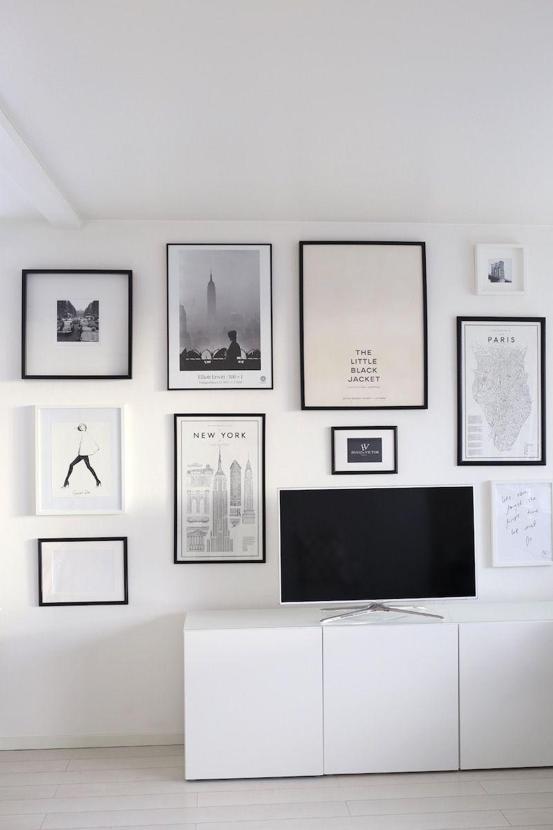 Valmis Tauluseina Olohuone Gallery Wall Home Decor Interior
