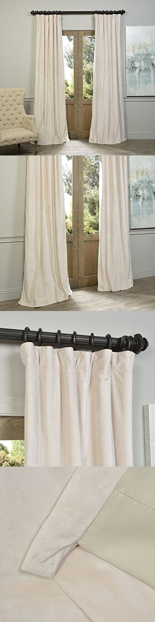 120 W X 96 L Set Of 2 Panels Pinch Pleat 90 Beige Lining Blackout Velvet Solid Curtain Thermal Insulated Patio Door Curtain Panel Drape For Traverse Rod An Panel Curtains