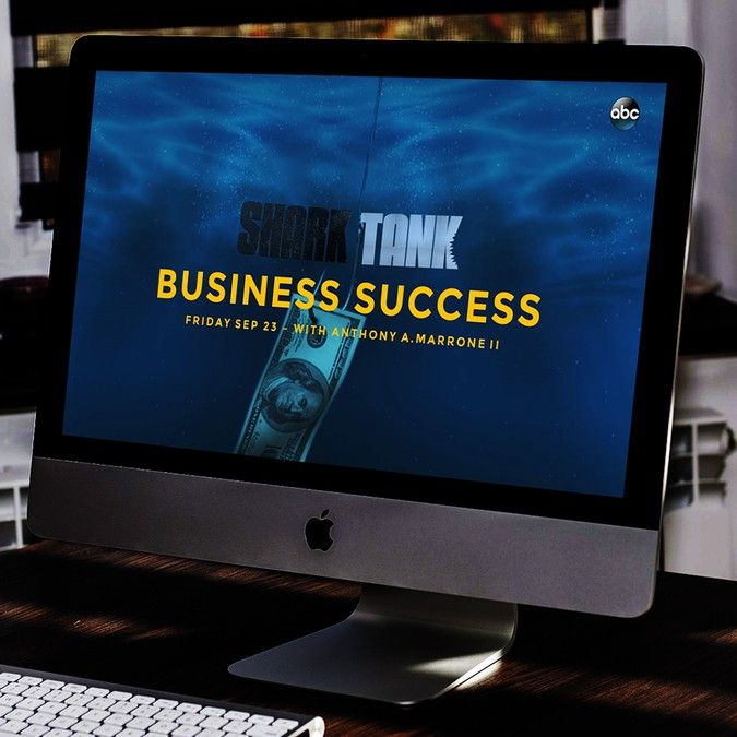 Enter The Shark Tank Powerpoint Template Contest By Slideatom