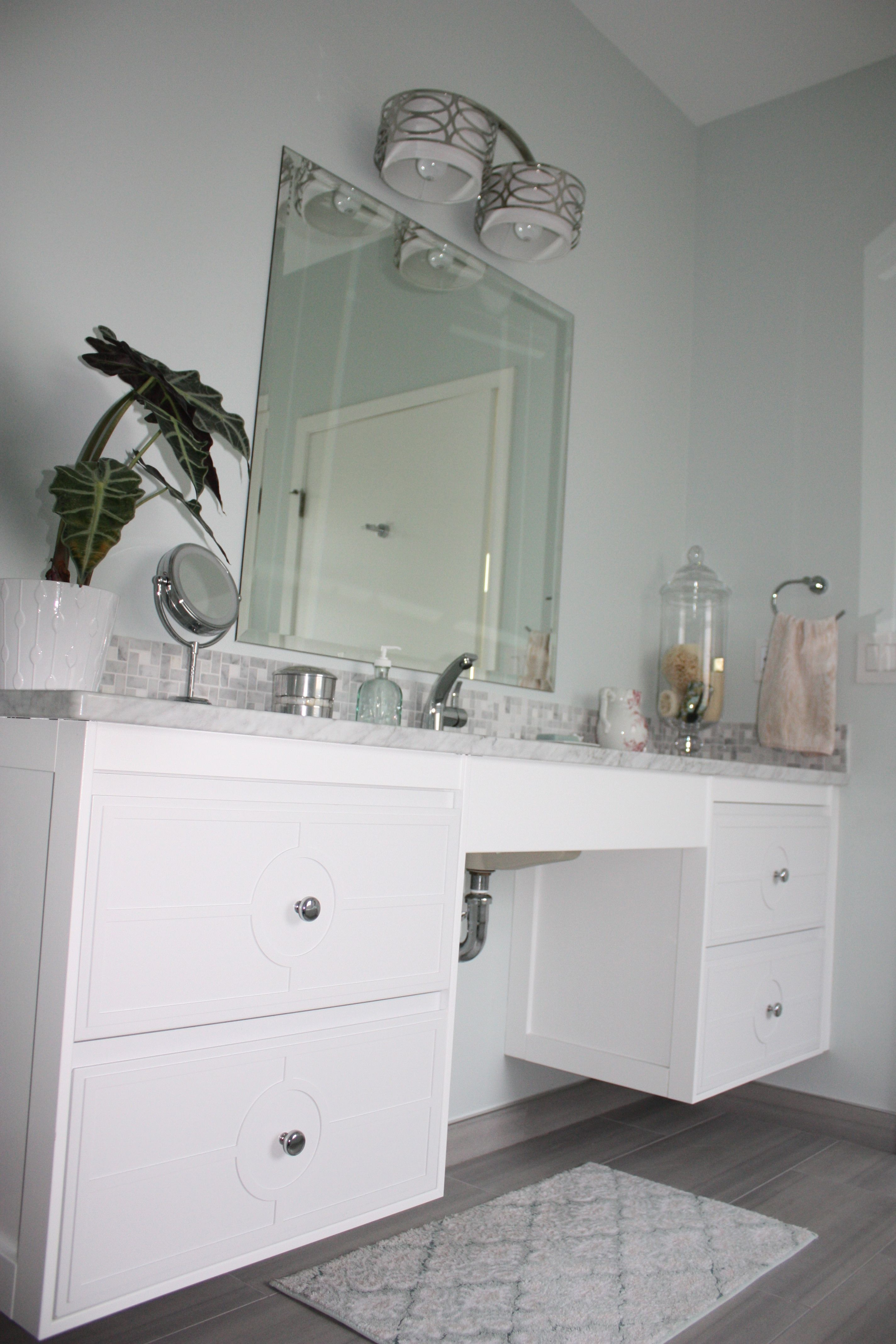 Master bath 2. ADA sink. Ikea hack. | my home in 2019 | Ikea ...