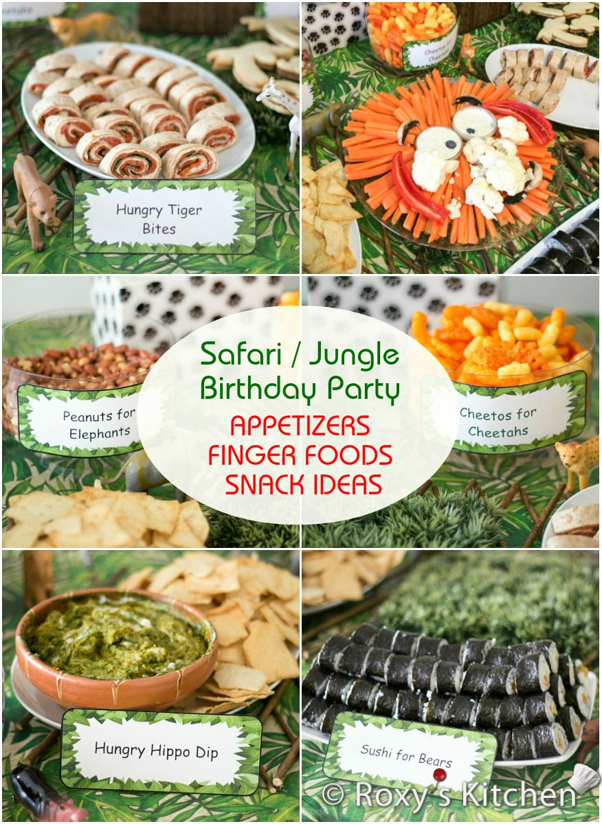 safari jungle themed first birthday party part ii appetizers finger foods snack ideas. Black Bedroom Furniture Sets. Home Design Ideas