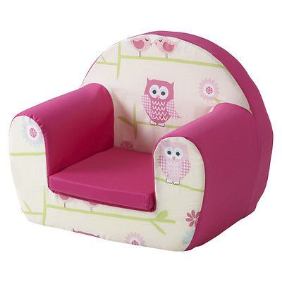 Owls Twit Twoo Pink Childrens Kids Comfy Foam Chair Toddlers Armchair Seat Girls Toddler Chair Baby Armchair Toddler Armchair
