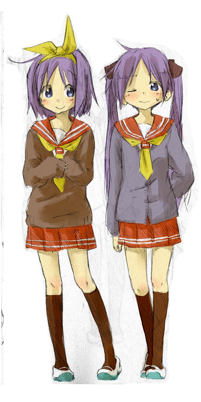 Lucky Star Tsukasa & Kagami Lucky star, Anime, Chibi