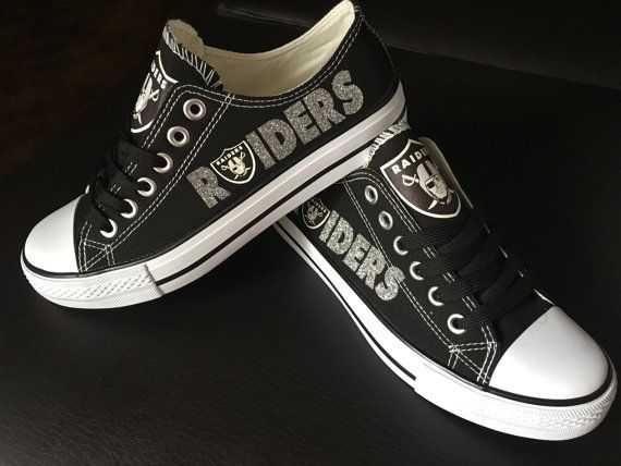 adf71f81a02d1b Oakland Raider Shoes by Shoejourney on Etsy