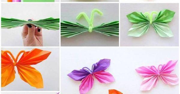 Bricoler des papillons de papier! Faites-en des décorations! | Papillons, Facebook and Decoration