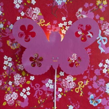 Kinderlampen * Roommate wandlamp kinderkamer vlinder roze