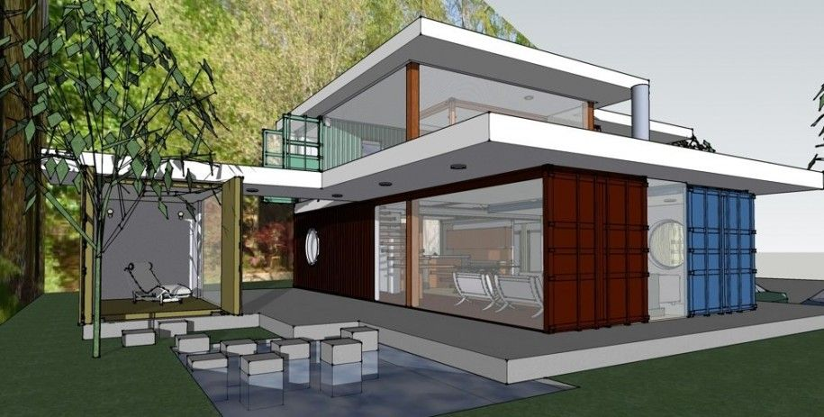 Best Shipping Container House Plans : Awesome Shipping Container House Plans For Modern Style