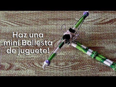 Como hacer una mini ballesta de juguete - YouTube