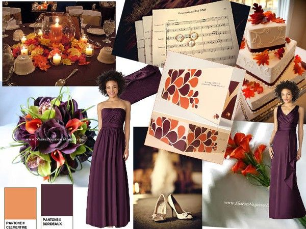 Purple and orange wedding colors? | We ARE Married 10/17/15 ...