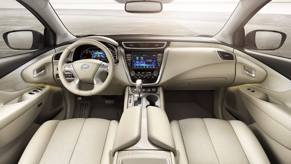 2016 Nissan Murano Interior Console Shown In Cashmere Leather