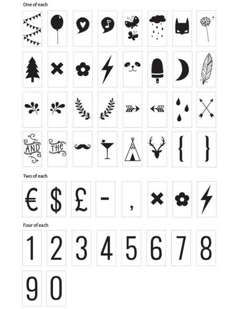 Lightbox symbol set