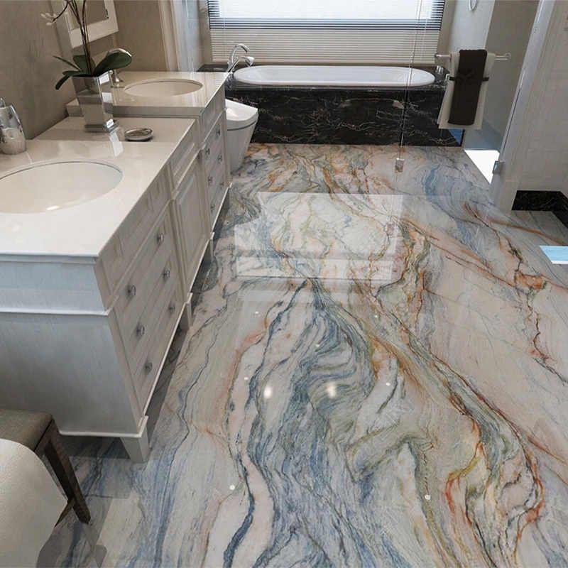 Pvc Self Adhesive Waterproof Wallpaper 3d Marble Floor Tiles Murals Bathroom Non Slip Wall Paper 3d Flooring Home Decor Stickers Aliexpress In 2020 Floor Murals Marble Tile Floor Tile Murals