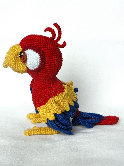 Chili The Parrot Amigurumi Pattern | Tejidos - Crochet - Agujas ...